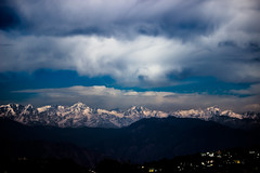 Himalayan View from George Everest (GauravNegi) Tags: india snow mountains nature canon himalaya
