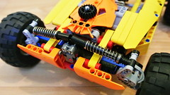desert buggy (hajdekr) Tags: terrain motion ride cross desert steering lego suspension wheels engine dirt technic motor buggy invention moc shockabsorber legotechnic myowncreation cardan