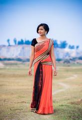 Model: Riya (I Do Photography) Tags: girl smile fashion canon model dress outdoor bangalore 85mm gown dharma saree bengaluru canon7d dharmaphotography