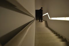 For darkness (TheManWhoPlantedTrees) Tags: light architecture stairs steps perspective human handrail escaleras guimares escadas degraus josdeguimares arquitecturaportuguesa nikond3100 tmwpt plataformadasartes artsandcreativeplatformforthe2012guimareseuropeancapitalofculture