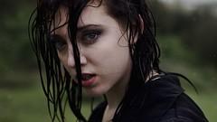 Tears in Rain II (SkylerBrown) Tags: portrait woman wet girl face rain closeup sadness eyes pretty tears sad head crying greeneyes depression emotional teardrop depressing