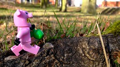 Apple Hunting (Deanomite85) Tags: trees tree apple nature grass walking toy outside toys outdoors pig lego natural walk hunting pigs figure apples hunt toyphotography legophotography legography