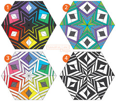 Block 2 Alternate Colorings (Sassafras Lane Designs) Tags: red pattern quilt foundation lane designs avenue arcadia sassafras paperpiecing piecing batiks lowvolume
