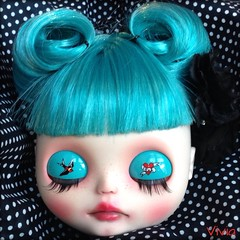 Blythe custom #32 ( vivia custom dolls and accessories ) Tags: glass doll sweet victory lips rockabilly rolls blythe custom eyelids