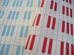 'Red hot...' and 'Cool blue jazz piano keys pattern's: proofing swatches (Su_G) Tags: blue red wallpaper music swatch keyboard piano jazz fabric musicalinstrument redhot redandwhite blueandwhite coolblue sug pianokeyboard spoonflower basiccombedcotton pianokeyspattern coolbluejazzpianokeyspattern redhotjazzpianokeyspattern