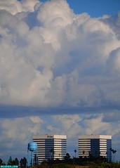 ElSegundoTowersRevisited (mcshots) Tags: california city winter sky usa nature weather architecture clouds buildings palms coast view watertower towers stock neighborhood socal mcshots elsegundo losangelescounty