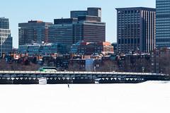 Boston's Epic Snow of 2015 (NicKafkas) Tags: winter cambridge snow man weather boston frozen massachusetts charlesriver snowstorm jogging blizzard jog newton onice clearweather bosnow nickafkas