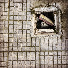 #pavement #hole #Debri #square #iPhone (Tryfon Tobias Pliatsikouris) Tags: square hole pavement iphone debri