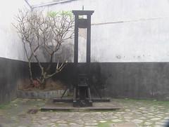 Guillotine in Hoa Lo Prison Museum Hanoi