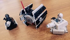 Micro TIE fighter x1 & Imperial tank (danielhuang0616) Tags: star mod fighter tank lego tie darth micro imperial wars vader pilot moc 2016