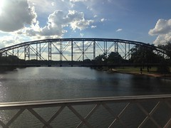 Brazos River (barxtattoo) Tags: water beauty clouds river evening texas waco historic