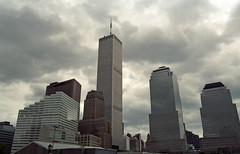 I recently found this image in my files and decided to post it. (TheMachineStops) Tags: 1993 film 35mmscan nyc newyorkcity lowermanhattan building terrorism 2001 91101 godblessamerica patriotism usa wtc destroyed pre911 america twintowers worldtradecenter september112001 analog pentax september11 wfc clouds outdoor skyscraper skyline tower architecture 911 manhattan worldfinancialcenter financialdistrict fidi brookfieldplace