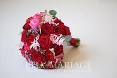 Buchet de mireasa rosu (IssaEvents) Tags: buchet mireasa cu trandafiri rosii si hortenisa rosie bucuresti valcea slatina issaevents issamariage