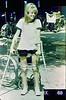 RIBBON - 1960s Polio Girl in KAFOs (jackcast2015) Tags: handicapped disabledwoman crippledwoman wheelchair paralysed poliogirl legbraces calipers