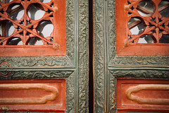 (sunnywinds*) Tags: beijing china theforbiddencity leica door ancient architecture architect dragon red bronze        vermilion window
