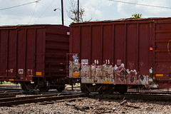 (o texano) Tags: houston texas graffiti trains freights bench benching gouls ghouls goreb a2m adikts gtb wh