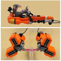 Microfighter: Sebulba's podracer (details) (cecilihf) Tags: lego moc podracer sw starwars star wars pod sebulba microfighter micro