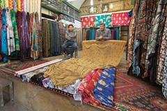 Fabric sellers, Shiraz bazaar (D A Scott) Tags: iran persia asia market bazaar shiraz stall