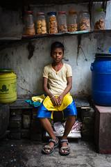 The Tea Store Hand (saswatachakrabortychemistry) Tags: street kolkata colour nikon d5200 yellow blue portrait public people india children morning 1855mm