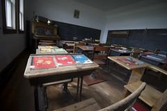 school's out forever (Trevor Pritchard) Tags: saskatchewan july 2016 hepburn school schoolhouse room prairies rural desks