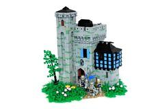Leanan Manor (soccersnyderi) Tags: brickfairva yeoldmerrybattleground castle lego medfieval moc manor landscape stone design window