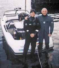 lake divers (rubbermax) Tags: rubber wetsuit neoprene