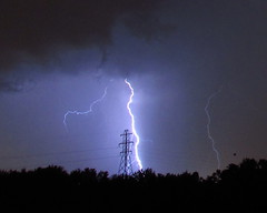 tower strike (Hank Rogers) Tags: pa pennsylvania pittston weather lightning strike hit tower power line powerline exposure storm electric electricity electrical discharge bolt branch nature natural thunderstorm utility lines wires stormy sky meteorology