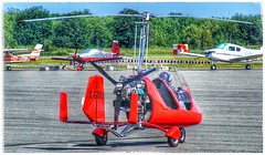 RED-Gyro70 (plismo) Tags: outdoor gyro gyrocopter airport peterboroughairport ontario canada red summer