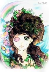 (Simona Marchetti) Tags: manga girl magic disegno illustrazione fata fairy vita ragazza pittura