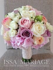 Buchet de mireasa roz pal (IssaEvents) Tags: buchet mireasa cu hortezia ros trandafiri roz pal si dantela issamariage issaevents bucuresti valcea slatina