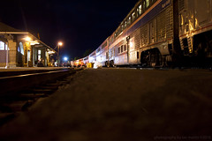 Klamath Falls Crew Change (II) (imartin92) Tags: klamathfalls oregon train station coaststarlight amtrak passenger rail railroad