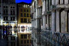 Flooding in St. Mark's Square, Venice (Mustang Joe) Tags: cruise free nikon publicdomain costa mediterranean eastern d750 2016