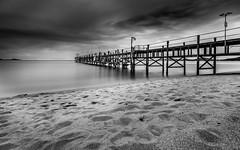 Pier Koh Samui (mcalma68) Tags: blackwhite monochrome mono long exposure beach pier jetty seascape clouds