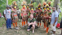 Met these cool guys from the Huli tribe.