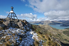 Mt Pleasant Trig in Winter (Kiwi Jono) Tags: mount pleasant trig snow canterbury port hills christchurch hill pentax pentaxk5 sigma1020f35 winter view breath taking stunning nz newzealand nikon