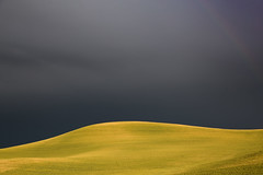 Just a Hint (Dex Horton Photography) Tags: palouse storm rainbow hint dark bright farm evening sunset late bestof washingtonstate dexhorton