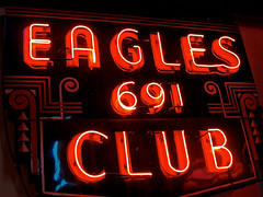 Eagles Club 691, Cincinnati, OH (Robby Virus) Tags: cincinnati ohio american sign museum signage neon eagles lodge fraternal order 691 club
