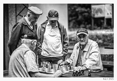 game of chess (Alja Ani Tuna) Tags: 62 62365 365 365challenge 365project year man game chess playing photo365 project365 portrait dailyphoto d800 day four guys old dudes nikond800 nikkor nikkor85mm nature naturallight nice 85mmf18 f18 oldschool monocrome monochrome master bw blackandwhite black beautiful blackwhite white