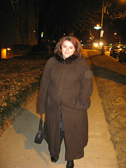 Dawn-Coming Home (Photo Squirrel) Tags: streetscene winter night flash wife woman 2008 dressedup newyears holiday smile
