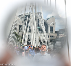 Urban Exploration - Embankment, London 2016 (Flip the Script) Tags: visit london architecture bridge southbank embankment travel perspective outdoors vacation people city summer abstract creative sphere circle mirror