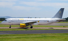Vueling A320-214 EC-HTD. 23/08/16. (Cameron Gaines) Tags: vueling airbus a320214 echtd taxiing along bravo manchester airport after arriving 23r from alicante exiting alphafox 230816 cn1550firstflewattoulouseblagnaconthe12thofjuly2001asfwwdcpriortobeingdeliveredtoibriaasechtdleasedfromilfconthe6thofseptember2001andnamedcalblanquetheaircraftwasbadlydamagedduringatakeoffincidentatmadr tailandrudderonthe19thofseptember2007theaircraftwastransferredtoclickairasechtdonthe9thofjuly2009theaircraftwasonceagaintransferred thistimetovuelingduetothemergerofclickairand avgeek aviation aircraft man egcc england spain france airplane aeroport aeroplane aviationloverss spanish ec barcelona bcn alc atlantic united kingdom green vuelingcom fwwdc clickair iberia madrid incident damage serious accident ntsb caliblanque 2009 2007 2001 first flight toulouse blagnac souther southern eu europe low cost separated