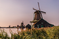 Zaanse Shans (Gabrielradio) Tags: rosso windmill zaanse schans sunset river poetry poetic nikon d610 dream dreamy soft magic