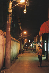 Street Night 2 (qw0aszx) Tags: 35mm memory film canonae1 hangzhou fujic200