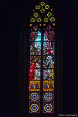 Vidrieras de la iglesia. (Photo Valdueza) Tags: vidrieras catedral montblanc catedraldelamontaa santamarialamayor catalua lerida interior pulso luz