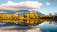 The Sky Moves Sideways (John Westrock) Tags: borstlake mountain nature landscape mtsi reflection autumn fall autumncolors washington pacificnorthwest canoneos5dmarkiii canonef1635mmf4lis johnwestrock