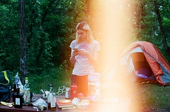 almond's campout (BRE@NNE) Tags: connor light leak film tent camping bhp birds hill park manitoba june
