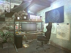 [ht:home] gaming office (Corvus Szpiegel) Tags: hate this hatethis ht home original mesh material materials enabled diffuse texture normal specular map geeksnnerds geek nerd office desk chair gaming computer monitor screen pc keyboard mouse black white pink wood leather metal steel widescreen furniture decoration decor deco sl second life secondlife