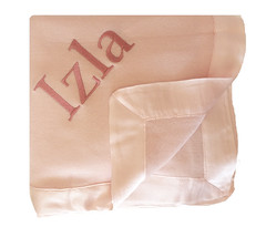 Cashmere and Silk Baby Blanket (initial_impressions) Tags: embroidered personalized cashmereandsilkbabyblanket pinkcashmere