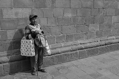 (Mark William Brunner) Tags: peru street man blind vendor poverty