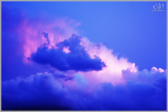 Deep Blue (Athelston Lashley) Tags: blue skies clouds sunsets pinkclouds evening light deepblue